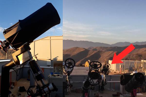Teleskop GoChile v observatoriju.